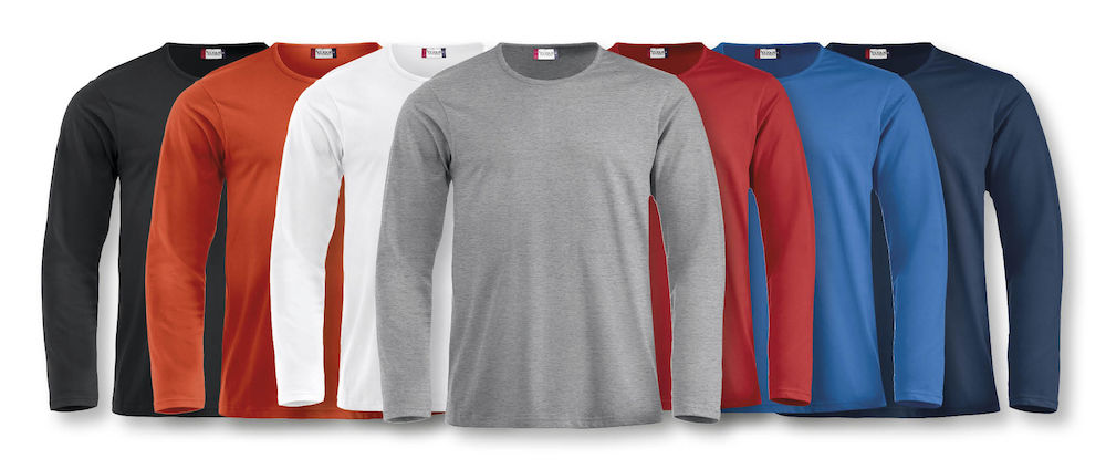 Langærmet T-shirt med tryk