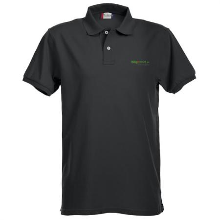 Premium Polo med virksomhedens logo. Den bliver du glad for.